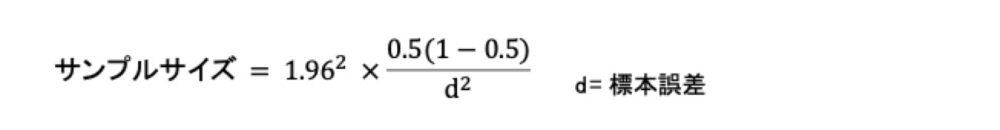 必要サンプルサイズ計算式