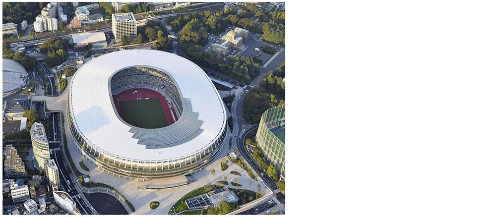 上空から見た新国立競技場