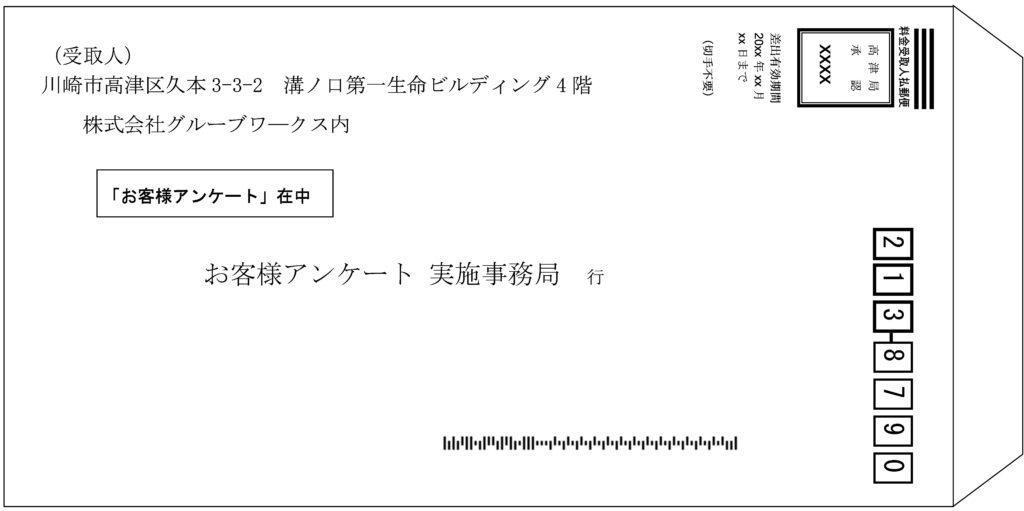 返信用封筒例